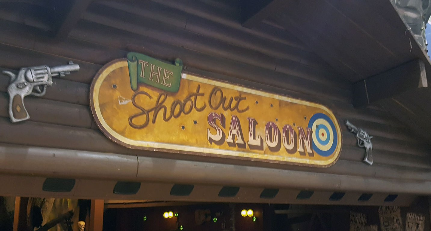 The Shoot Out Saloon Sign
