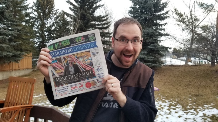 Matthew Dutczak on the cover of the Star Metro Edmonton